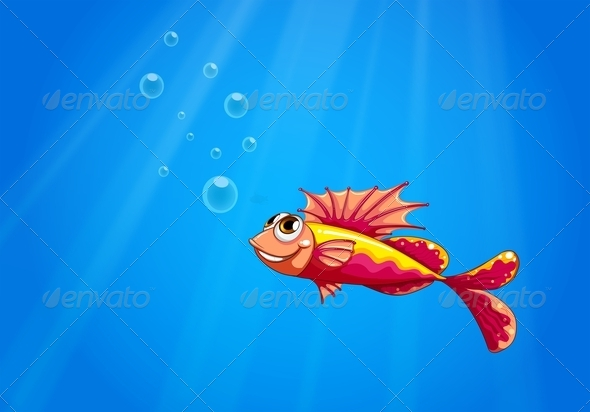 GraphicRiver Fish Underwater 8150991