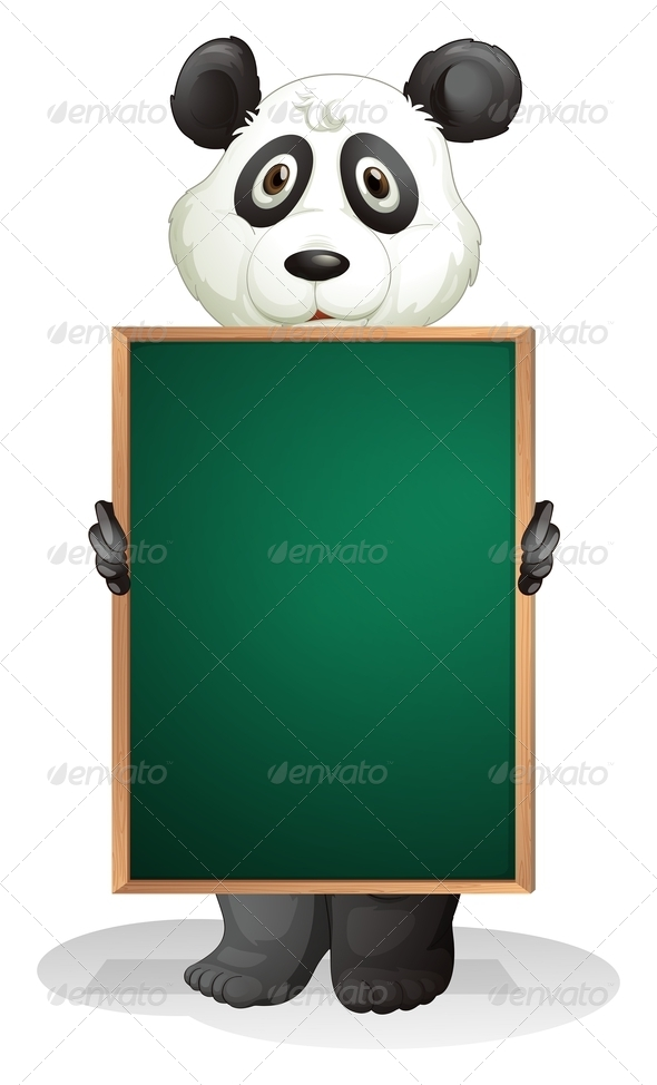 GraphicRiver Panda with Empty Blackboard 8151007