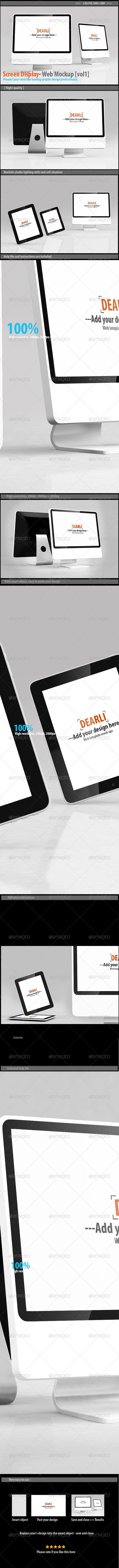 GraphicRiver Screen Display- Web Mockup [vol1] 8138584