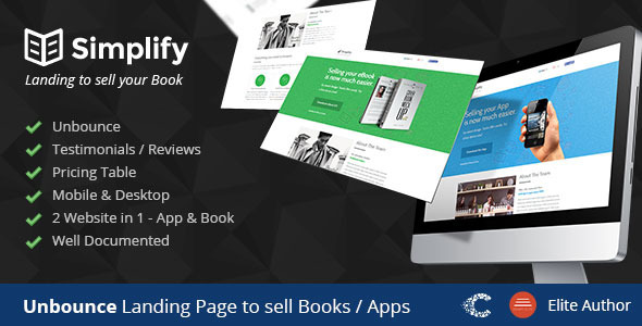 ThemeForest Simplify Unbounce Landing Page Template 8085593