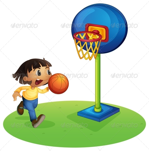 GraphicRiver Boy Playing Basketball 8151022