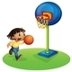 Boy Playing Basketball  - GraphicRiver Item for Sale
