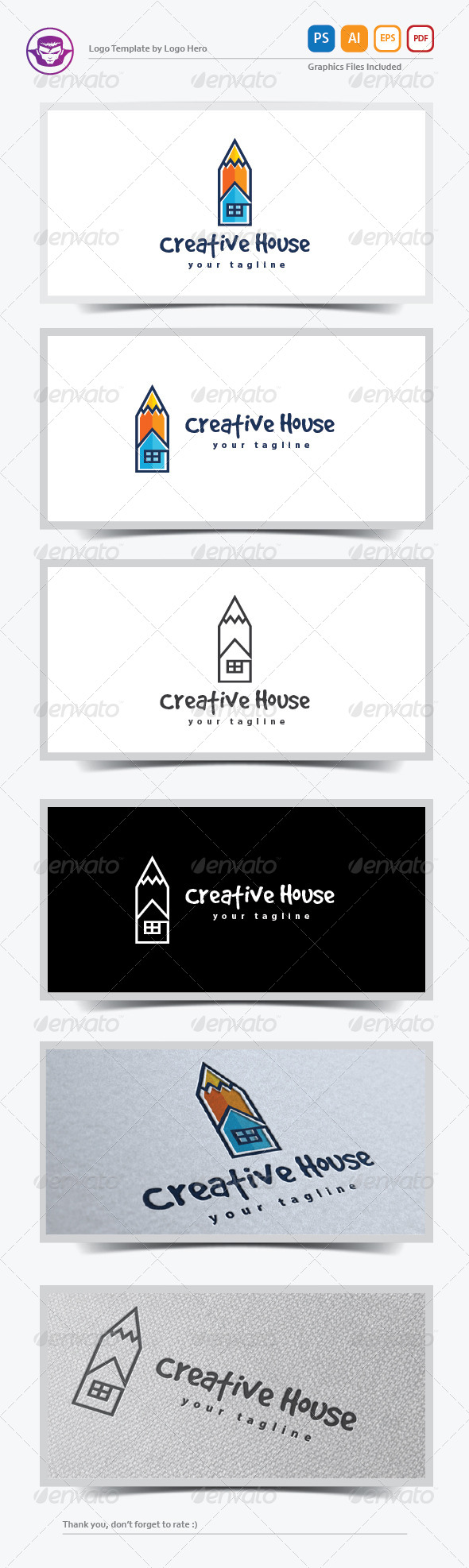 GraphicRiver Creative House Logo Template 8151024