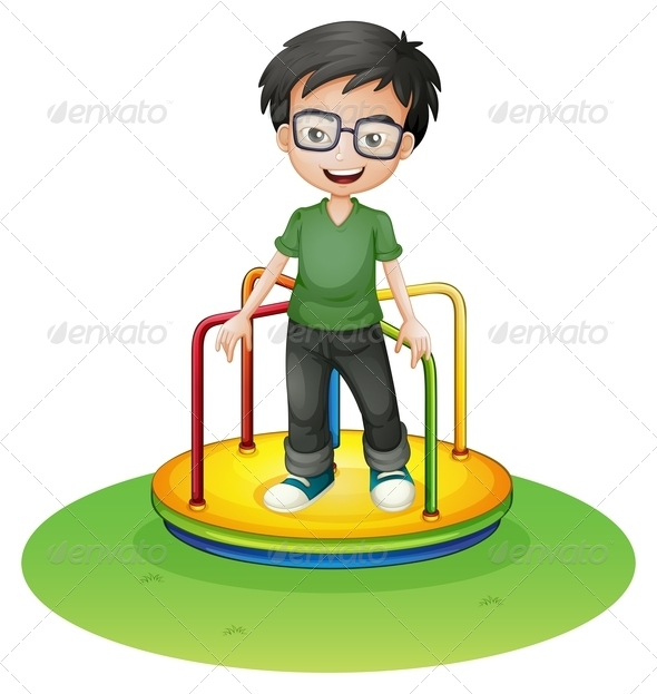 GraphicRiver Happy Boy on Round-About 8151028