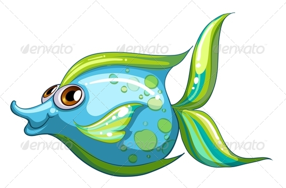GraphicRiver Blue Fish With Striped Tail 8151032