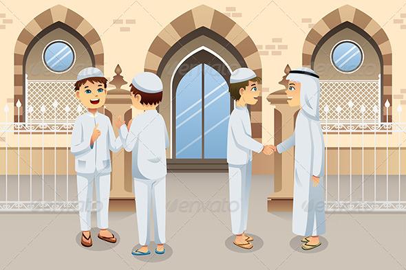 GraphicRiver People Celebrating Eid-Al-fitr 8151038