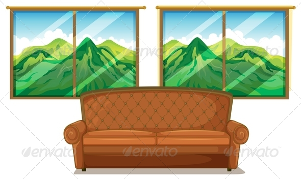 GraphicRiver Sofa Near the Window 8151040