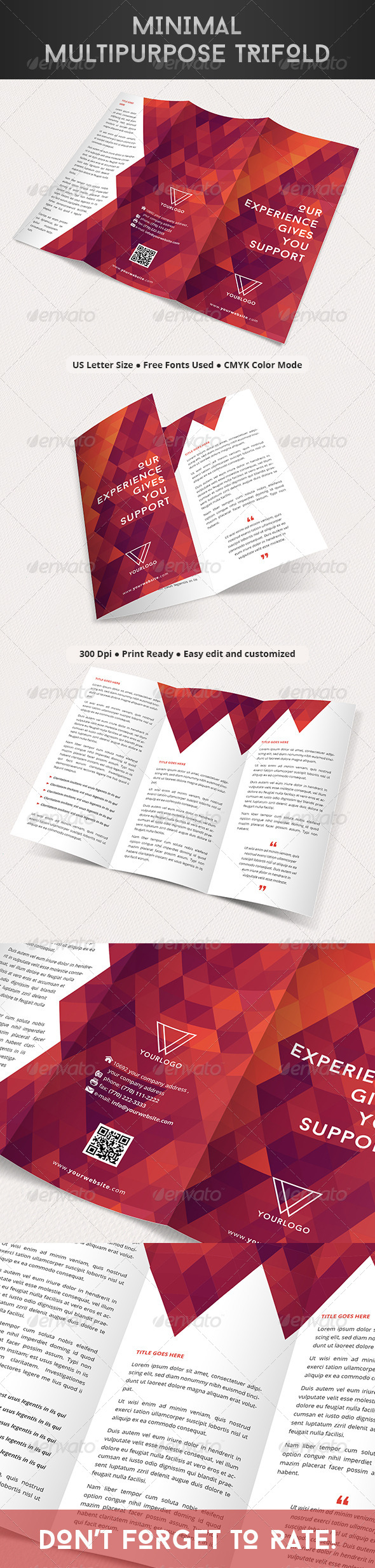 GraphicRiver Minimal Multipurpose Trifold 8151041