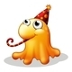Monster Wearing a Party Hat - GraphicRiver Item for Sale