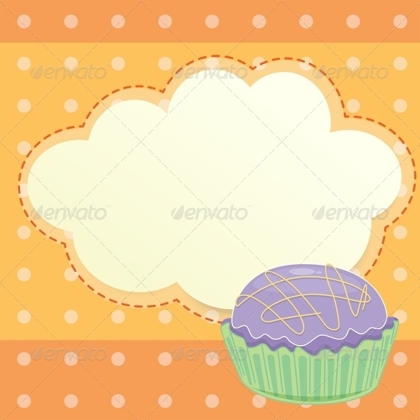 GraphicRiver Stationery with Cupcake 8151092