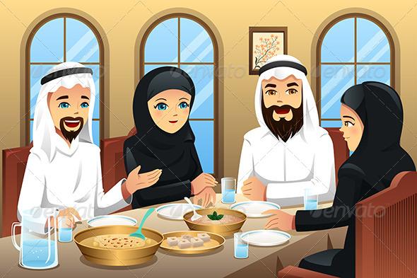 GraphicRiver People Celebrating Eid-Al-fitr 8151098