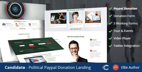 Candidate Political Donation Landing - Government Corporate