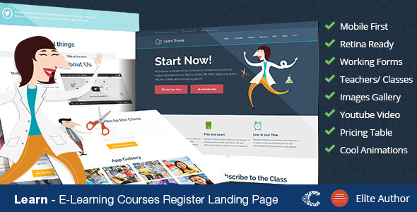 Learn - Education Classes Landing Page - Miscellaneous Landing Pages