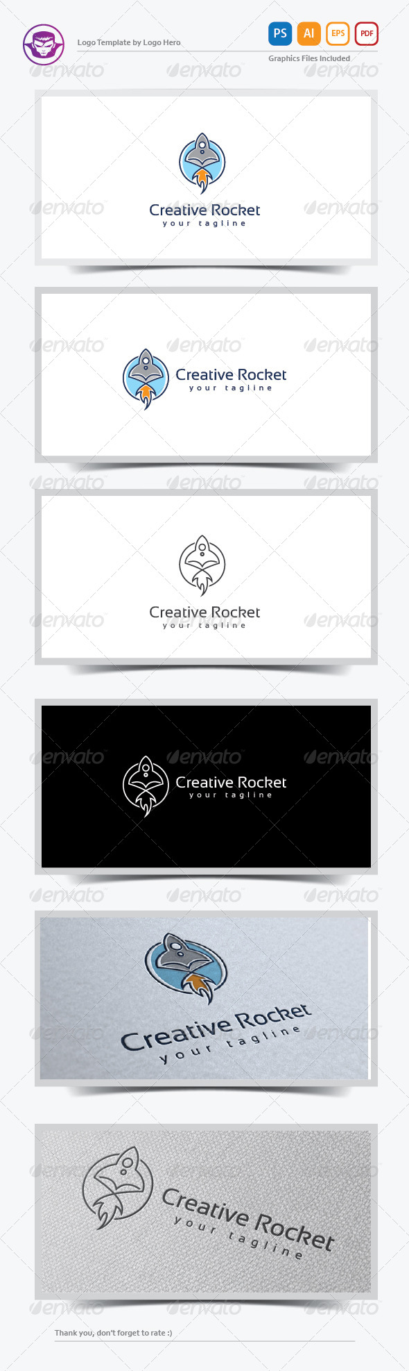 GraphicRiver Creative Rocket Logo Template 8151382