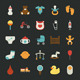 Baby Icons with Black Background - GraphicRiver Item for Sale