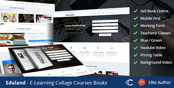 Landing Page Templates - Eduland - <p>Collage Career HTML Landing Page </p>