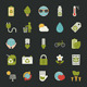 Green Eco Icons Set  - GraphicRiver Item for Sale