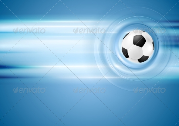 GraphicRiver Bright Blue Football Background 8151412