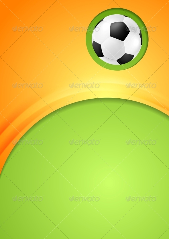GraphicRiver Abstract Waves Football Sport Background 8151413