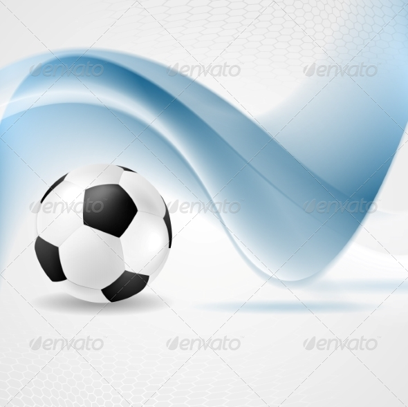 GraphicRiver Abstract Waves and Football 8151418