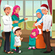 Family Celebrating Eid-Al-fitr - GraphicRiver Item for Sale