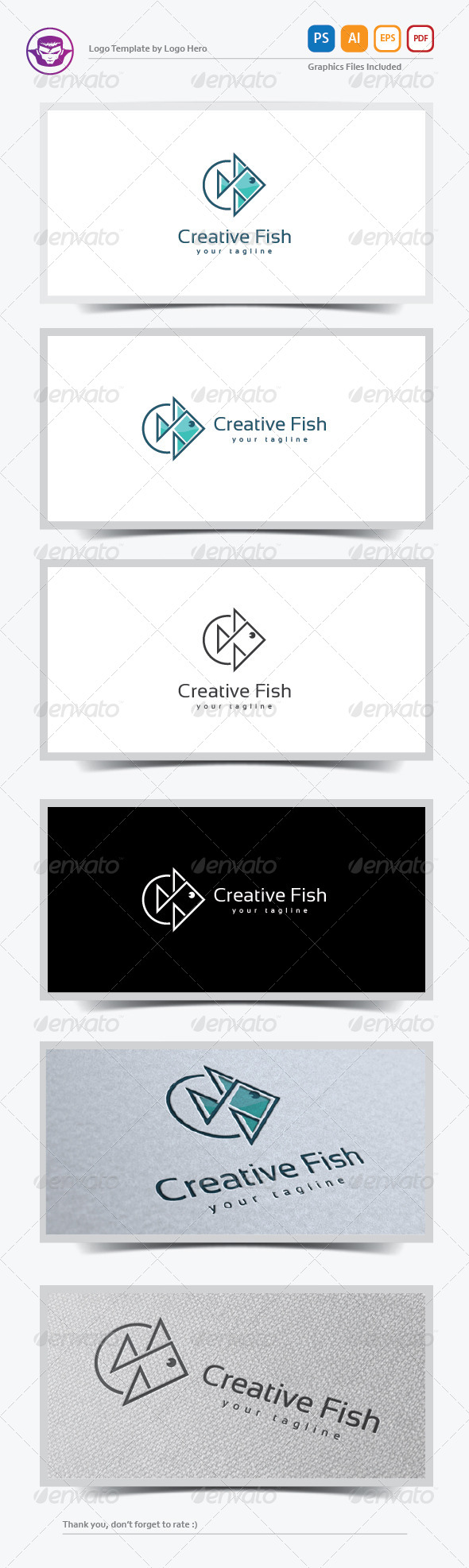 Creative Fish Logo Template