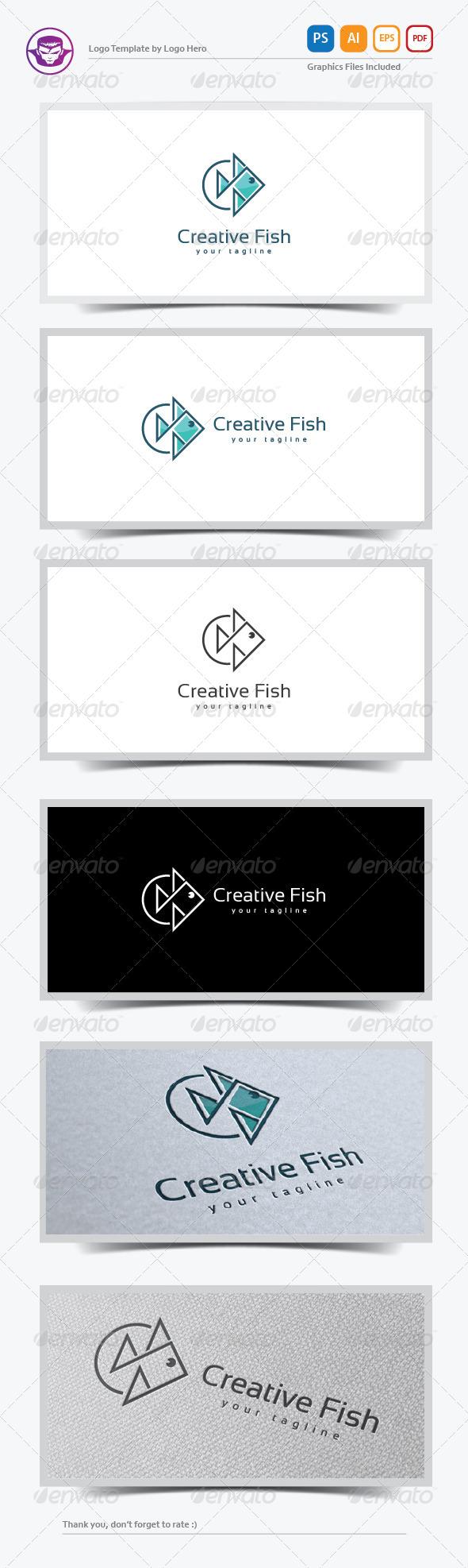 GraphicRiver Creative Fish Logo Template 8152264