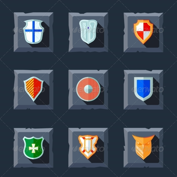 GraphicRiver Shield Icon Flat 8152308