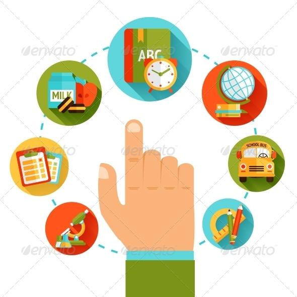 GraphicRiver Education Hand Concept 8152399