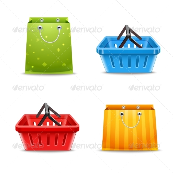 GraphicRiver Shopping Baskets and Bags 8152520