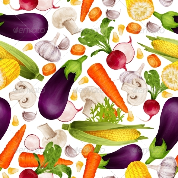 GraphicRiver Vegetables Seamless Pattern 8152863