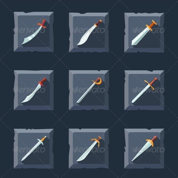 GraphicRiver Sword Icon Set 8152908