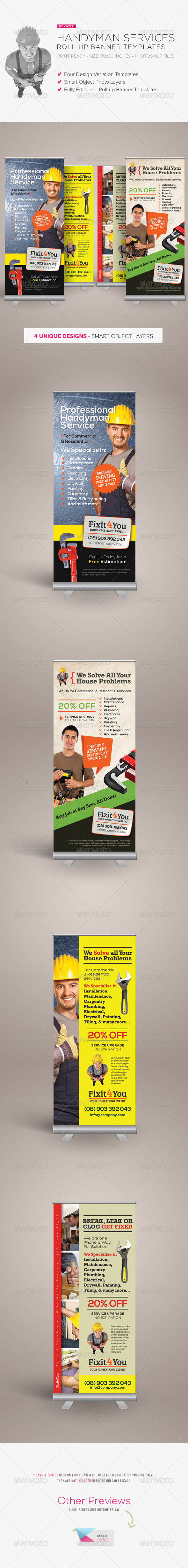 GraphicRiver Handyman Services Roll-up Banners 8143394