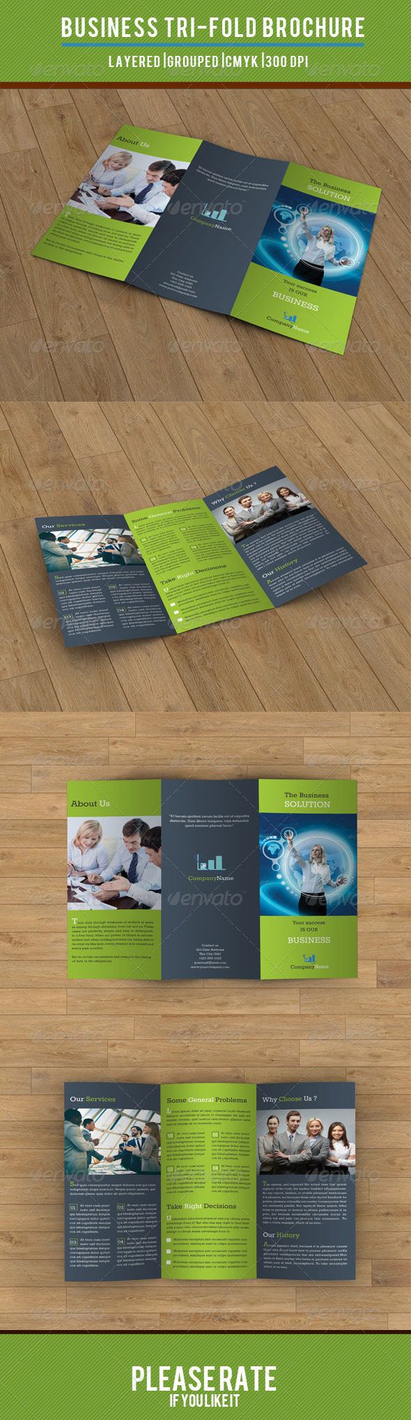 GraphicRiver Business Solution Trifold-V26 8153421