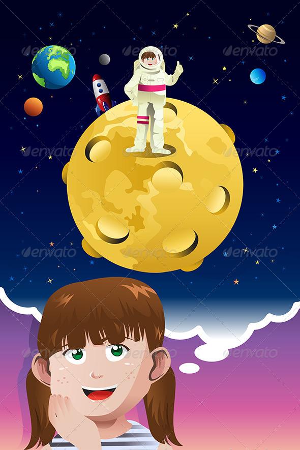 Girl Aspiring to be Astronaut