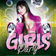 Girl Party Flyer - GraphicRiver Item for Sale