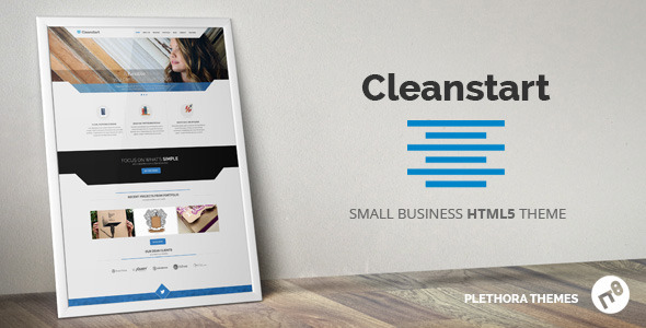 ThemeForest CLEANSTART Minimal Small Business 7712236