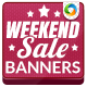 Weekend Mega Sale Banners - GraphicRiver Item for Sale