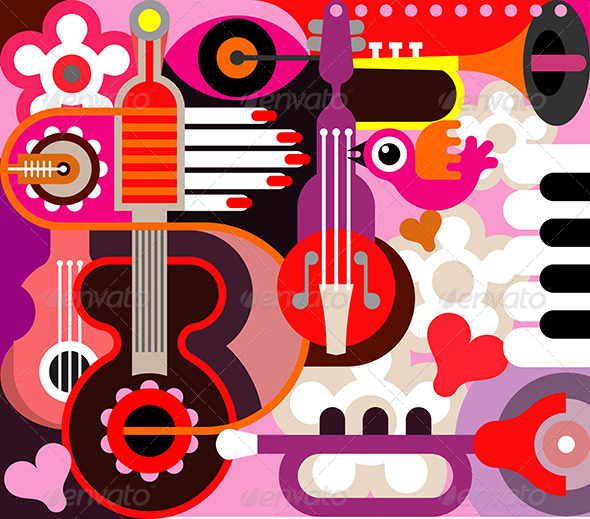 GraphicRiver Abstract Music Background 8154197