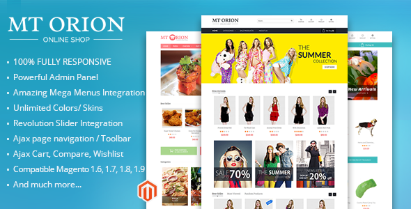ThemeForest MT Orion multi-purpose paralax magento theme 8154340