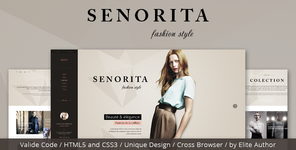 ThemeForest Senorita Responsive HTML Template 8095836