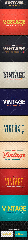 GraphicRiver Vintage Retro Text Col 7 8154348