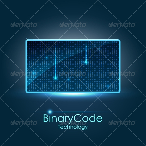 GraphicRiver Binary Background 8154420