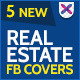 Real Estate Facebook Cover Page - 5 Designs - GraphicRiver Item for Sale