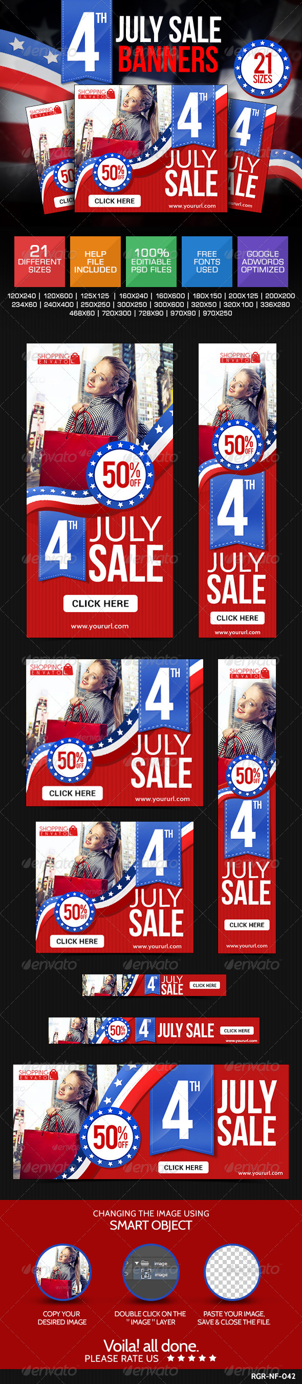GraphicRiver Fourth of July Banners 8154456