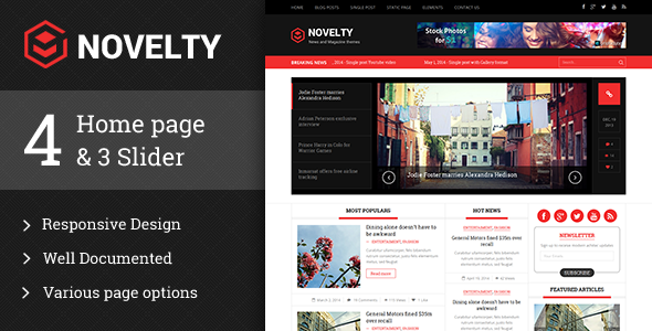 Novelty responsive HTML5 template