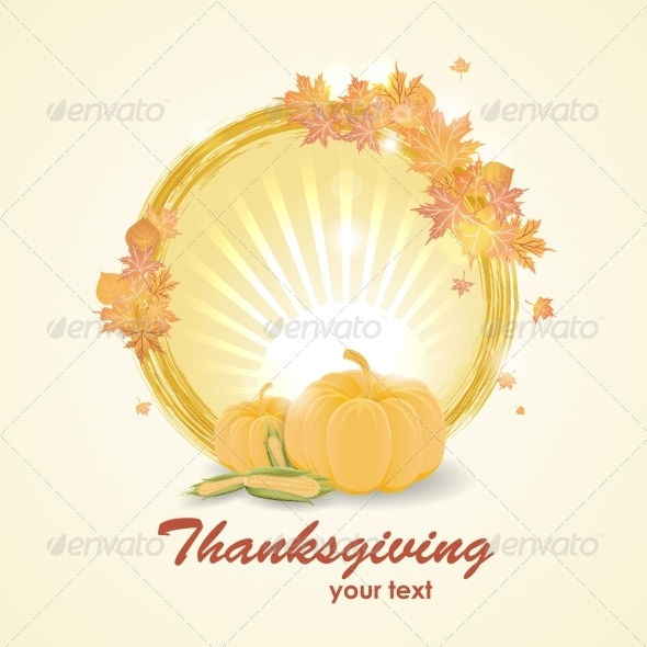 GraphicRiver Thanksgiving Day Background 8154514