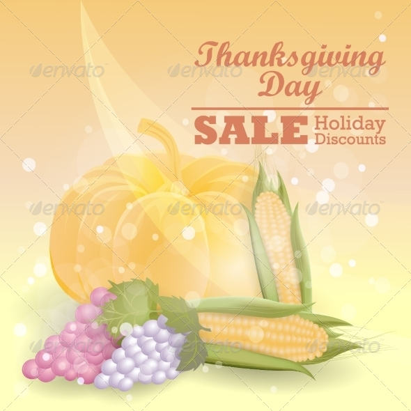GraphicRiver Thanksgiving Sale Design 8154524