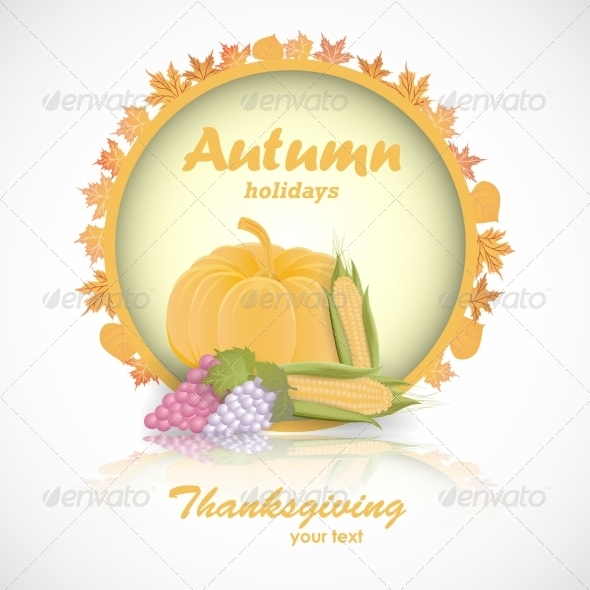 GraphicRiver Happy Thanksgiving Day Card 8154529