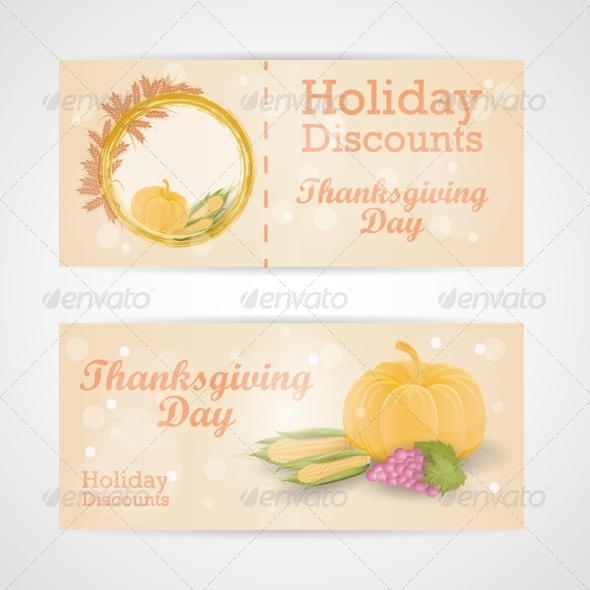 GraphicRiver Happy Thanksgiving Day Sale Card 8154543